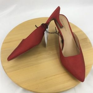 Who What Wear Coco Red Mules Heels Pumps 11 NEW